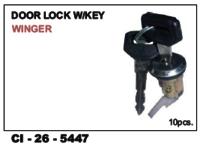 Car  Door Lock W/Key Winger L/R