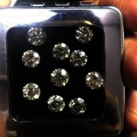 Cvd Diamond 2.40mm GHI VS SI Round Brilliant Cut Lab Grown HPHT Loose Stones TCW 1