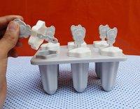Premium 6 Pcs Multicolor Polypropylene Ice Mold, Kulfi Maker/Stick/Cream/Candy