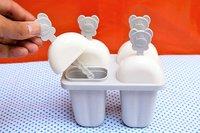 4 Pcs Yellow Polypropylene Ice Popsicle Mold, Kulfi Maker/Stick & Ice Cream & Candy Mould