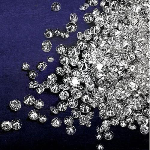 Cvd Diamond 3.40mm GHI VS SI Round Brilliant Cut Lab Grown HPHT Loose Stones TCW 1