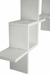 Cross Design Floating Wall Shelf, Set of 2, White