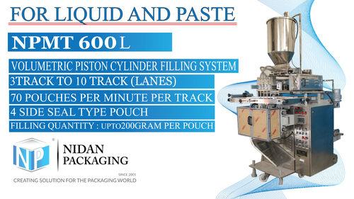 Multi Track Liquid Packing Machine