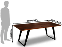 wooden Dining Table in Iron mix Minance