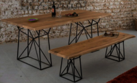 Wooden Dining Table set Ferrous