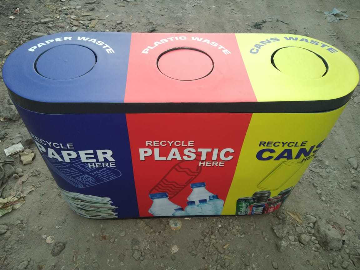 FRP 3 in 1 Recycle Swing Bin
