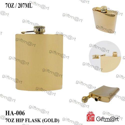 Gold Hip Flask