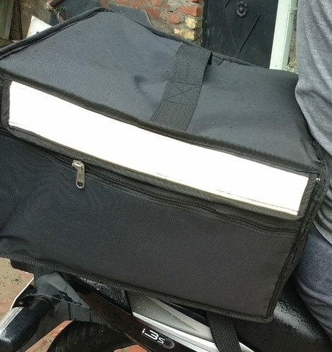 Food Delivery Black Insulated cooler Bag