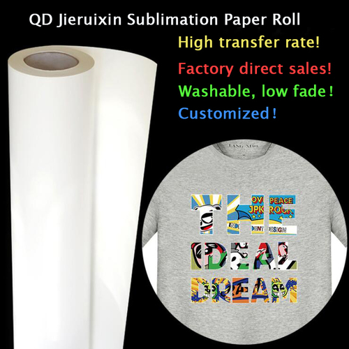 Sheet and Roll size fast dry/instant dry 58g - 120g sublimation heat transfer paper