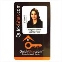 Black Plastic ID Card