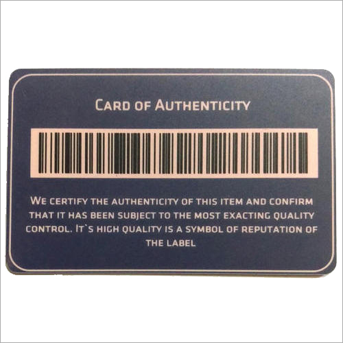 Plastic Barcode Card