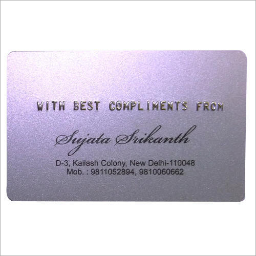 Plastic Embossed Card