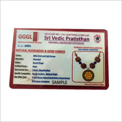 PVC Certificate Card