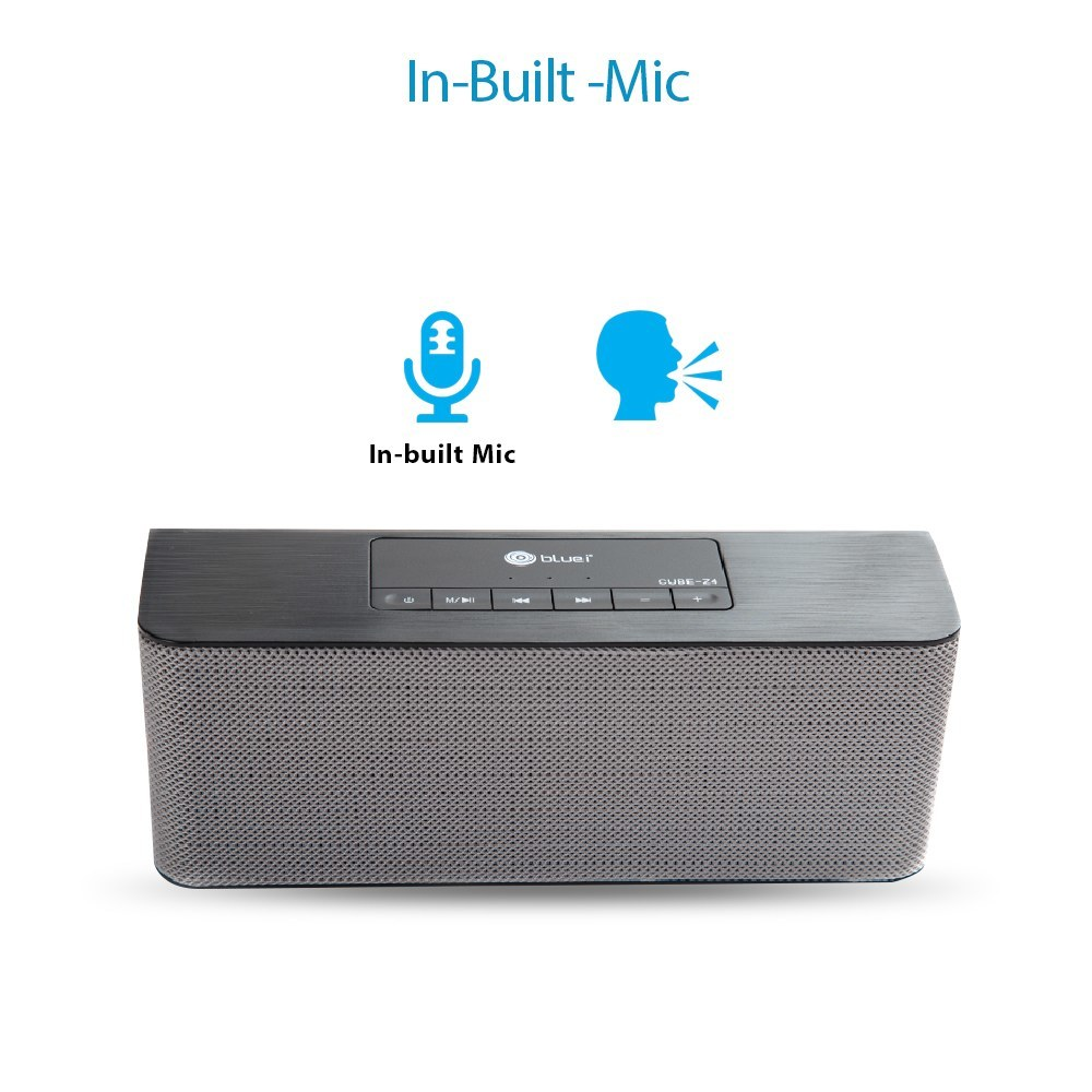 Bluei CUBE-Z4 Heavy Bass, 5.0 Bluetooth Version with Built - in FM Radio, Aux input, Call function & SD Card Support Portable Bluetooth Speaker