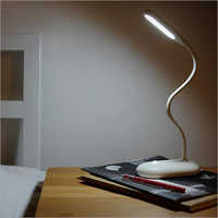 Flexible Hose Black Cordless LED Touch Table Lamp