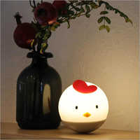 Portable Cute Chicken Silicone Baby Night Light