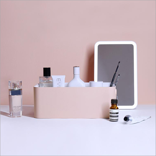 Portable LED Light Vanity Mirror With Makeup Case
