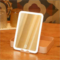 Storage Rechargeable LED Light Vanity Mirror