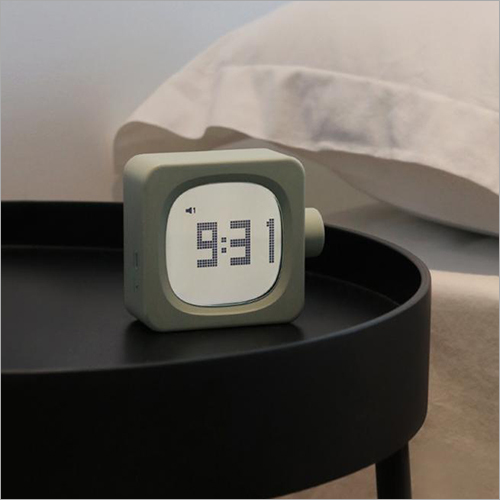 LED Light Mini Modern Cubic Alarm Clock