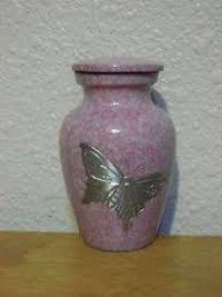 Artisan Indigo Brass Token Cremation Urn