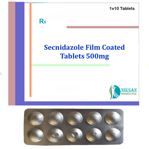 Secnidazole Film Coated 500mg Tablets
