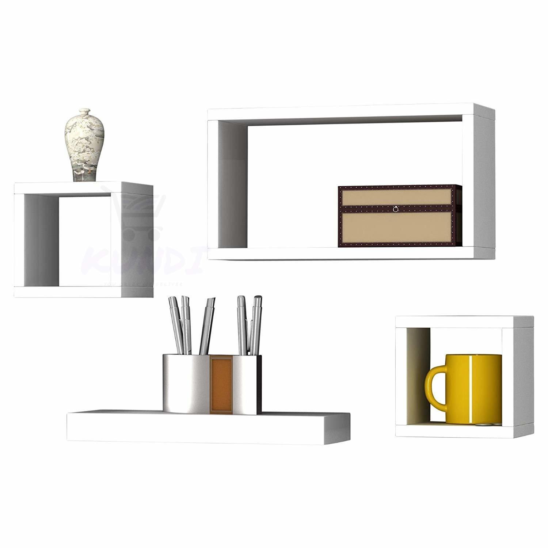 Floating Wall Shelf for Living Room   Set of 4 Wall Shelves Wall Decor   Home Decor   White