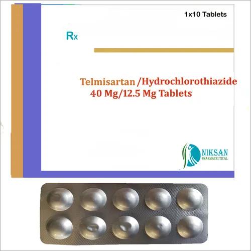 TELMISARTAN 40 MG HYDROCHLOROTHIAZIDE 12.5 MG TABLETS