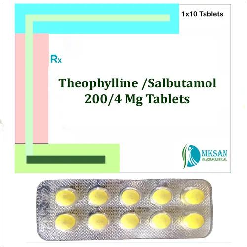 Theophylline 200 Mg Salbutamol 4 Mg Tablets