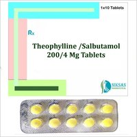 Theophylline 200 Mg Salbutamol 4 Mg Tablets