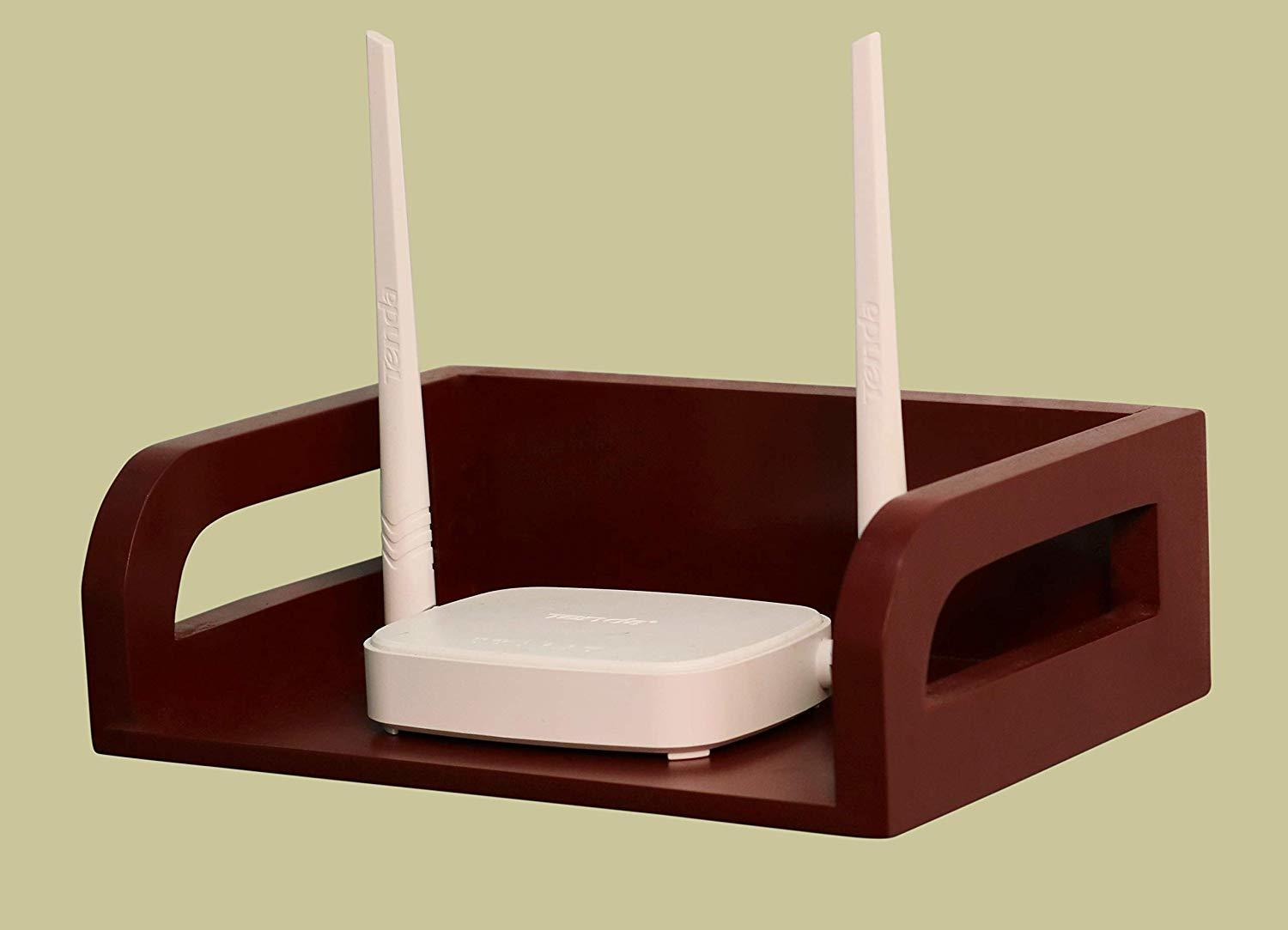 Floating Shelf Wooden Router Remotes Control Holder WiFi Router Storage Boxes TV Accessories TV Box Set Top Box Stand