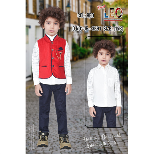 Kids Party Wear Waistcoat