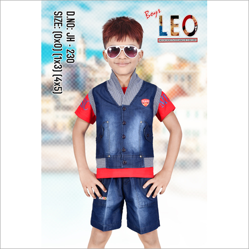 Kids Denim Half Jacket