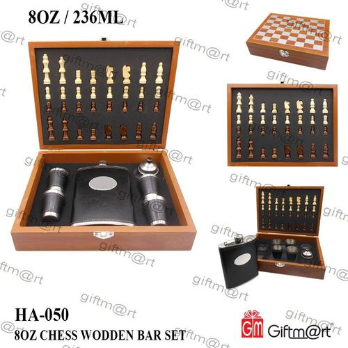 Wooden Chess  Bar Set