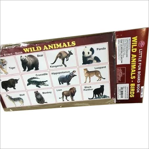 PAPER BOARD BOOK WILD ANIMAL & BIRDS