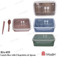 Lunch Box With Chopsticks & Spoon