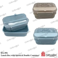 Lunch Box with Spoon & Double Container