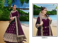 Georgette Embroidery Anarkali Suit