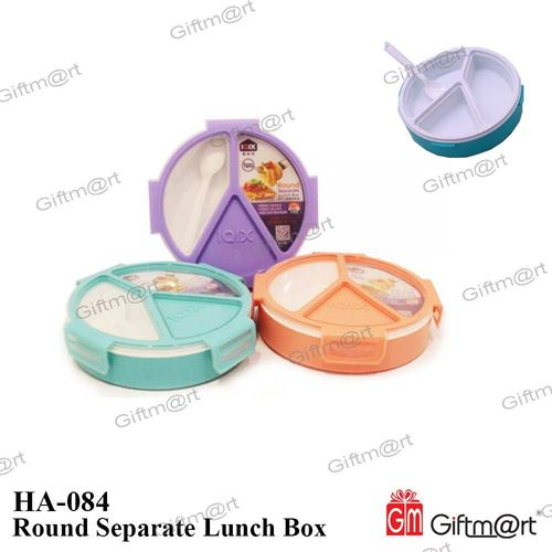 Round Separate Lunch Box