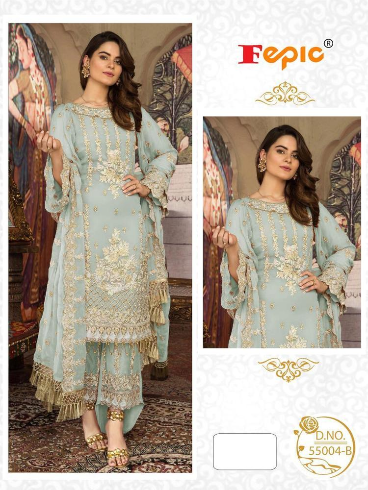 Georgette Embroidery Work Suit