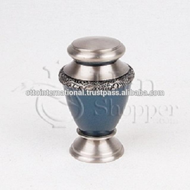Artisan Auburn Brass Token Cremation Urn