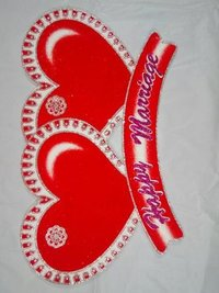 Thermocol wedding heart decorative article