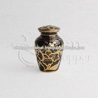 Castle II Brass Token Cremation Urn