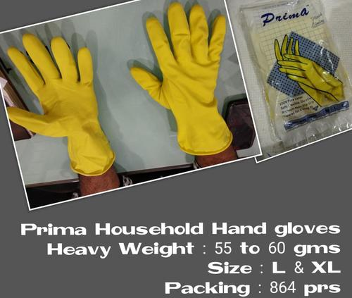 Prima House Hold Rubber Gloves