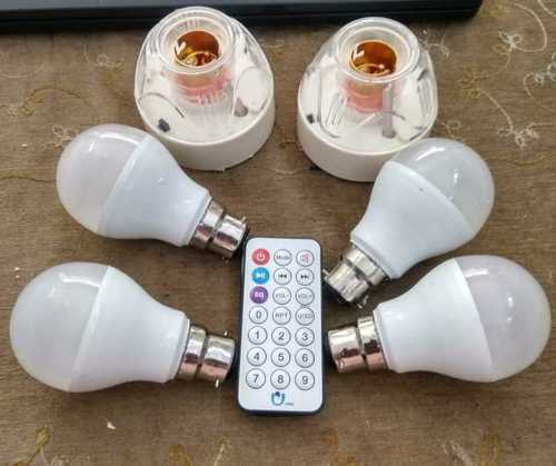 Led bulb remote holder