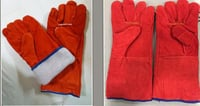 Red Winter Weding Leahter Gloves