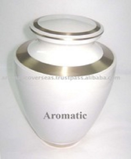 Trinity Moonlight Blue Brass Metal Cremation Urn