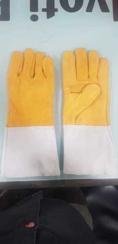 Heavy Yellow Grey Welding Gloves