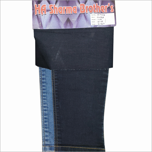 Plain Knitted Denim Fabric