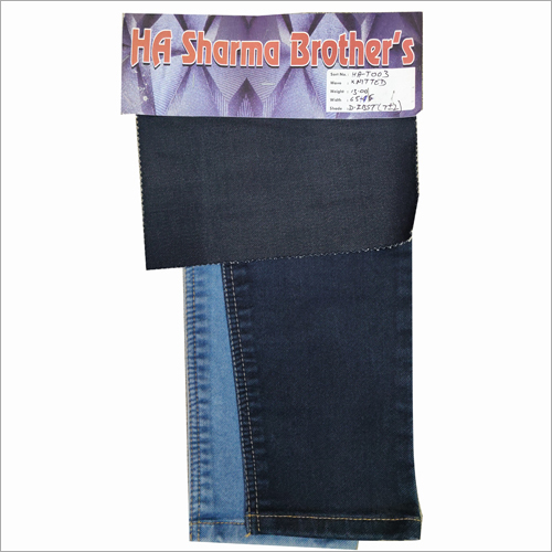 Back Knitted Denim Black Fabric