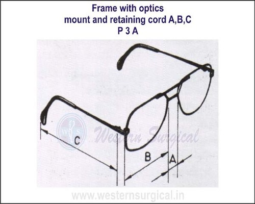 Frame with optics mount